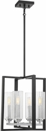 Savoy House 3-2153-4-67 Redmond Modern Matte Black with Polished Chrome Accents Foyer Lighting