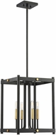 Savoy House 3-2231-4-51 Fowler Modern Vintage Black with Warm Brass Foyer Lighting Fixture