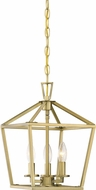 Savoy House 3-320-3-322 Townsend Warm Brass 10  Foyer Light Fixture