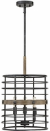 Savoy House 3-3920-3-120 Oakhill Modern Provincial Wood with Ebony Entryway Light Fixture