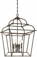 Savoy House 3-551-4-32 Howell Artisan Rust 20  Foyer Light Fixture