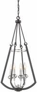 Savoy House 3-8050-4-67 Dinant Modern Matte Black w/ Polished Chrome Accent Entryway Light Fixture