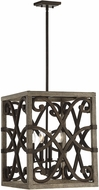 Savoy House 3-9182-4-101 Amador Noblewood w/ Iron Foyer Lighting