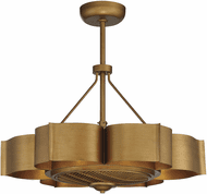 Savoy House 39-FD-125-54 Stockholm Modern Gold Patina LED Ceiling Fan