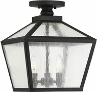 Savoy House 5-105-BK Woodstock Black Exterior Ceiling Lighting