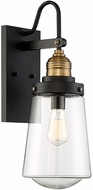 Savoy House 5-2066-51 Macauley Contemporary Vintage Black with Warm Brass Exterior 5 Lighting Sconce