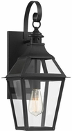Savoy House 5-721-153 Jackson Black With Gold Highlighted Outdoor Light Sconce