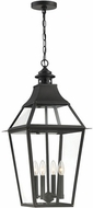 Savoy House 5-723-153 Jackson Black With Gold Highlighted Outdoor Drop Ceiling Lighting