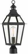 Savoy House 5-724-153 Jackson Black With Gold Highlighted Exterior Post Lamp