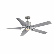 Savoy House 52-200-5SV-SNCH Wasp Contemporary Satin Nickel/Chrome LED 52  Home Ceiling Fan
