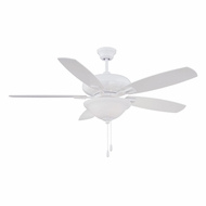 Savoy House 52-831-5WH-WH Mystique White 52  Ceiling Fan