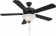 Savoy House 52-ECM-589-89 First Value Matte Black Home Ceiling Fan