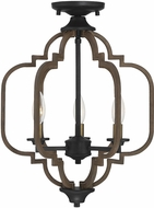 Savoy House 6-0303-3-96 Westwood Contemporary Barrelwood w Brass Accents Ceiling Lighting