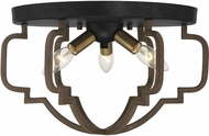 Savoy House 6-0304-3-96 Westwood Modern Barrelwood w Brass Accents Ceiling Light