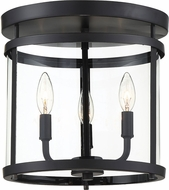 Savoy House 6-1043-3-BK Penrose Contemporary Black Ceiling Lighting Fixture