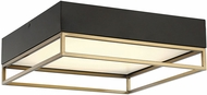 Savoy House 6-2190-14-322 Creswell Modern Warm Brass LED Flush Lighting