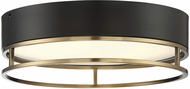Savoy House 6-2191-15-322 Creswell Contemporary Warm Brass LED Flush Mount Light Fixture