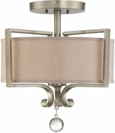 Savoy House 6-258-2-307 Rosendal Silver Sparkle Flush Mount Lighting Fixture