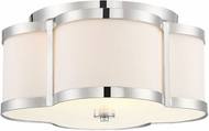 Savoy House 6-2706-3-109 Lacey Polished Nickel Flush Mount Ceiling Light Fixture