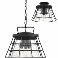 Savoy House 6-2771-3-BK Farnham Modern Black Pendant Lamp / Ceiling Light