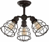 Savoy House 6-4136-3-13 Scout English Bronze Overhead Light Fixture