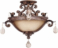 Savoy House 6-5314-3-8 Chastain New Tortoise Shell w/ Silver Ceiling Light Fixture