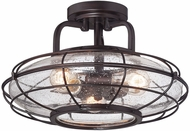 Savoy House 6-574-3-13 Connell English Bronze Flush Mount Light Fixture