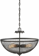 Savoy House 6-6022-4-83 Wexford Contemporary Remington Bronze Drop Lighting / Semi-Flush Ceiling Light