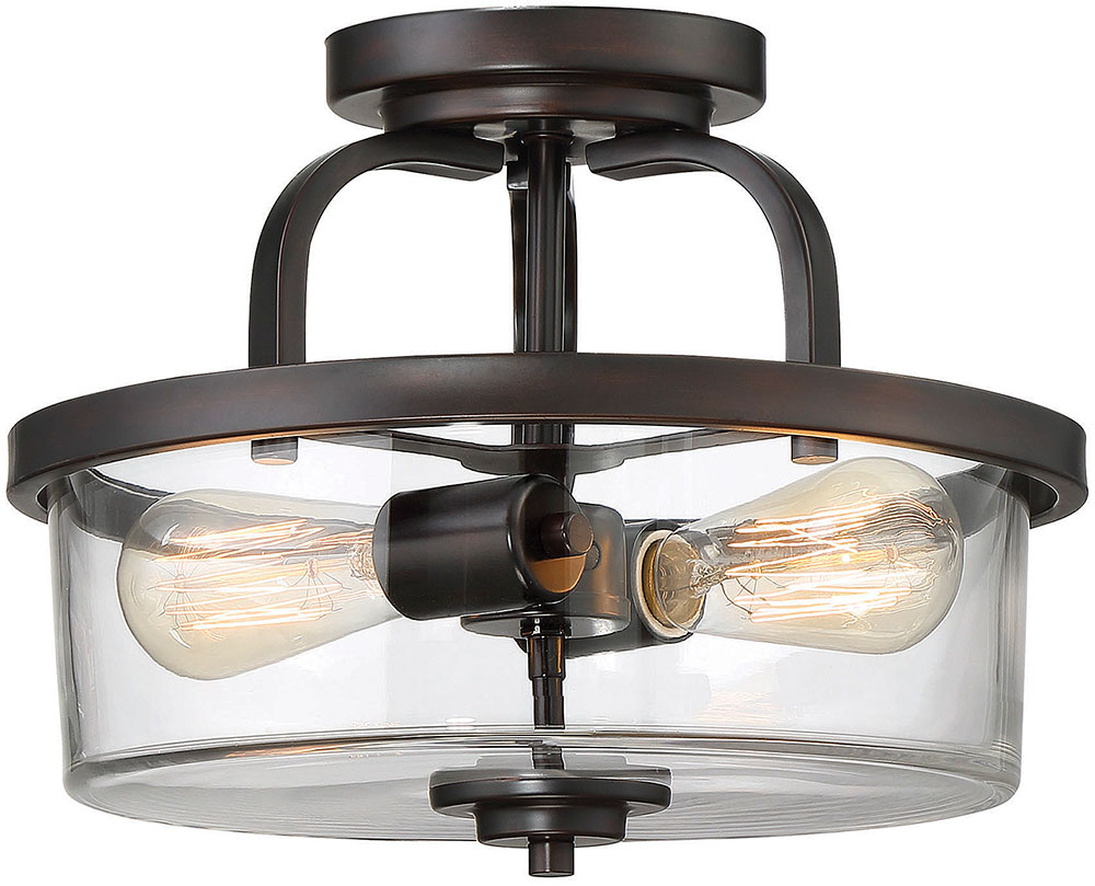 Savoy House 6 6053 2 13 Tulsa English Bronze Flush Mount Lighting