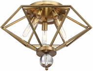 Savoy House 6-682-5-322 Tekoa Warm Brass Ceiling Light Fixture