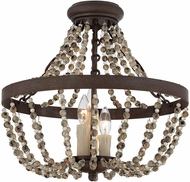 Savoy House 6-7403-3-39 Mallory Fossil Stone Ceiling Light Fixture