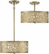 Savoy House 6-7502-3-171 New Haven Modern New Burnished Brass Ceiling Light Fixture / Pendant Light
