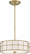 Savoy House 6-8502-3-322 Hayden Modern Warm Brass Drum Pendant Lighting