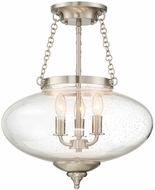 Savoy House 6-9040-3-SN Lowry Modern Satin Nickel Ceiling Light Fixture