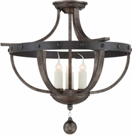 Savoy House 6-9540-3-196 Alsace Country Reclaimed Wood Ceiling Lighting Fixture