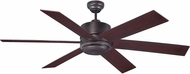 Savoy House 60-820-613-13 Velocity Contemporary English Bronze Halogen Exterior Home Ceiling Fan