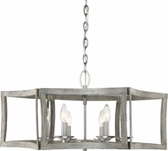 Savoy House 7-0201-6-139 Brookline Contemporary Pewter & Greywood Chandelier Light