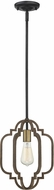 Savoy House 7-0305-1-96 Westwood Modern Barrelwood w/ Brass Accents Mini Ceiling Light Pendant