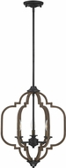 Savoy House 7-0306-3-96 Westwood Contemporary Barrelwood w Brass Accents Ceiling Pendant Light