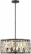 Savoy House 7-0803-4-124 Sandoval Modern Fiesta Bronze Drum Pendant Light