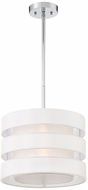 Savoy House 7-10000-1-11 Chilton Contemporary Polished Chrome 14  Drum Lighting Pendant