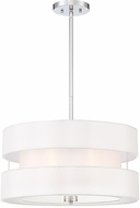 Savoy House 7-10001-3-11 Chilton Modern Polished Chrome 20  Drum Pendant Lamp
