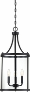 Savoy House 7-1040-3-BK Penrose Contemporary Black Foyer Lighting Fixture