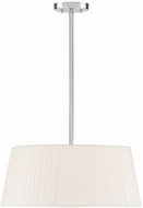 Savoy House 7-12000-1-SN Kings Satin Nickel Drum Hanging Pendant Lighting