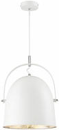 Savoy House 7-15000-1-123 Cypress Contemporary White with Silver Leaf Drop Ceiling Light Fixture