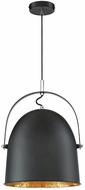 Savoy House 7-15000-1-126 Cypress Modern Black with Gold Leaf Drop Lighting Fixture