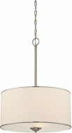Savoy House 7-1502-3-SN Grove Satin Nickel Drum Pendant Lamp