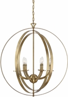 Savoy House 7-204-6-322 Dumont Contemporary Warm Brass Drop Lighting