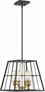 Savoy House 7-2252-4-51 Bayden Contemporary Vintage Black with Warm Brass Ceiling Pendant Light