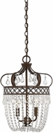 Savoy House 7-2440-2-8 Rochelle New Tortoise Shell with Silver 12 Foyer Lighting Fixture